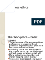 Business Ethics Civil Liberties in the Workplace