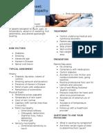 clinical fact sheet pn