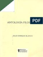 Antologia Filosofica Julio Enrique Blanco