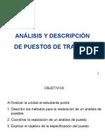 Analisis y Descripcion de Puestos