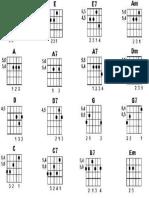 15 acordes básicos