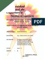 Plan de Desarrollo Hidroenergetico en El Peru
