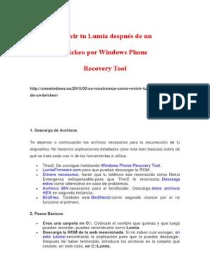Revivir Tu Lumia Después de Un Brickeo Por Windows Phone
