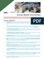 JUL 29 KBC Sunrise Mkt Commentary