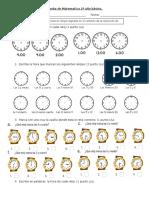 Guía de Estudio 2º Básico Matemática, LA HORA