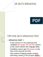 Tips for Ielts Speaking Test