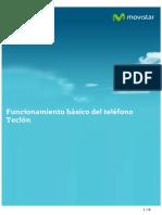 Manual de Ayuda Funcionamiento Basico Del Telefono Teclon 151