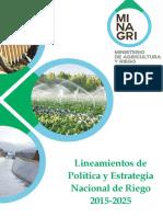 Lineamientos Politica Estrategia Naciona de Riego