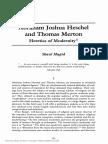 Abraham Joshua Heschel and Thomas Merton