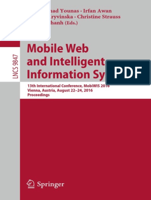 Mobile Web and Intelligent Information Systems pdf | Android
