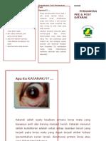 131167648 Leaflet Perawatan Pre Dan Post Katarak