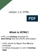 Lesson 1.2 HTML