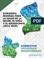 Estrategia Mundial Mujer Nino Adolescente 2016 2030