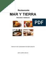Planos de Restaurante Mar y Tierra