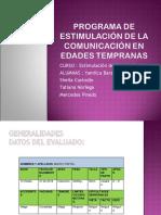 PROGRAMA DE ESTIMULACIÓN DE LA COMUNICACIÓN EN EDADES.ppt