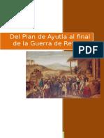 Ensayo Guerra de Reforma Plan de Ayutla
