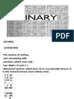 the DECIMAL and Binary