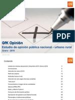 GfK OP Enero 2016 - Gobierno y Lima