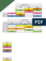Class Schedule 2017-2018