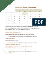 Ferry Schedule From Dapitan