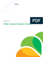 Web Scripts Student Guide