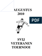 Programmaboekje veteranen toernooi 2010
