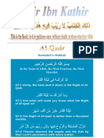 Tafsir Ibn Kathir - 097 Qadr