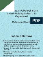 Dasar-Dasar Psikologi Islam Dalam Bidang Industri & Organisasi