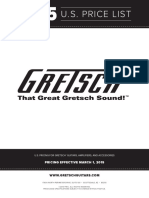 2015 Gretsch Consumer Price List