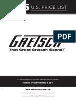 2015 Gretsch Consumer Price List