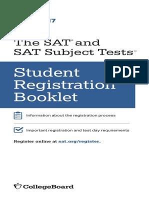 sat-registration-booklet-students pdf | Sat | Test (Assessment)