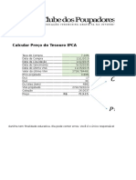 CP Calcular Preco Tesouro IPCA