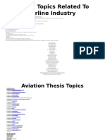 ebrandingindia the BestThesis Topics Related To Airline Industry