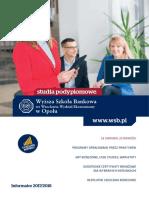 Informator 2017 - Studia Podyplomowe - Wyższa Szkoła Bankowa w Opolu