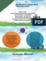 Presentasi Ilmu Lingkungan Penerapan Produksi Bersih Pada Industri Pulp