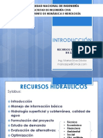Introduccion Recursos Hidraulicos