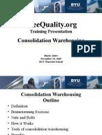 Consolidation Warehousing 2