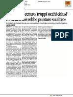 """""""Movida in centro, troppi occhi chiusi"""" - Il Corriere Adriatico del 1 giugno 2017"""