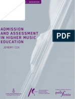 Admissions and Assessment in Higher Music Education 2010