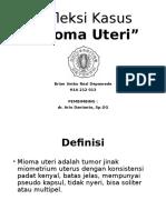 Refleksi Kasus Mioma Uteri
