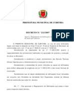 Curitiba - Decreto 212, de 29/03/07