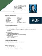 Resume (Norvelyn)