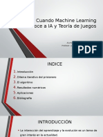 Machine Learning and Artificial Inteligence in Game Theory