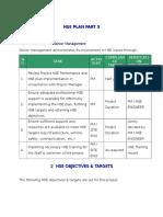 HSE Plan part 3