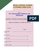 Perguntas Gerais Sobre as Doutrinas Bíblicas