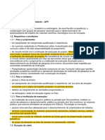 Edital APV