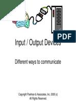 Input Output Devices New York University