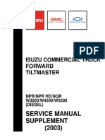Isuzu Commercial Truck Forward Tiltmaster Service Manual Supplement 2003
