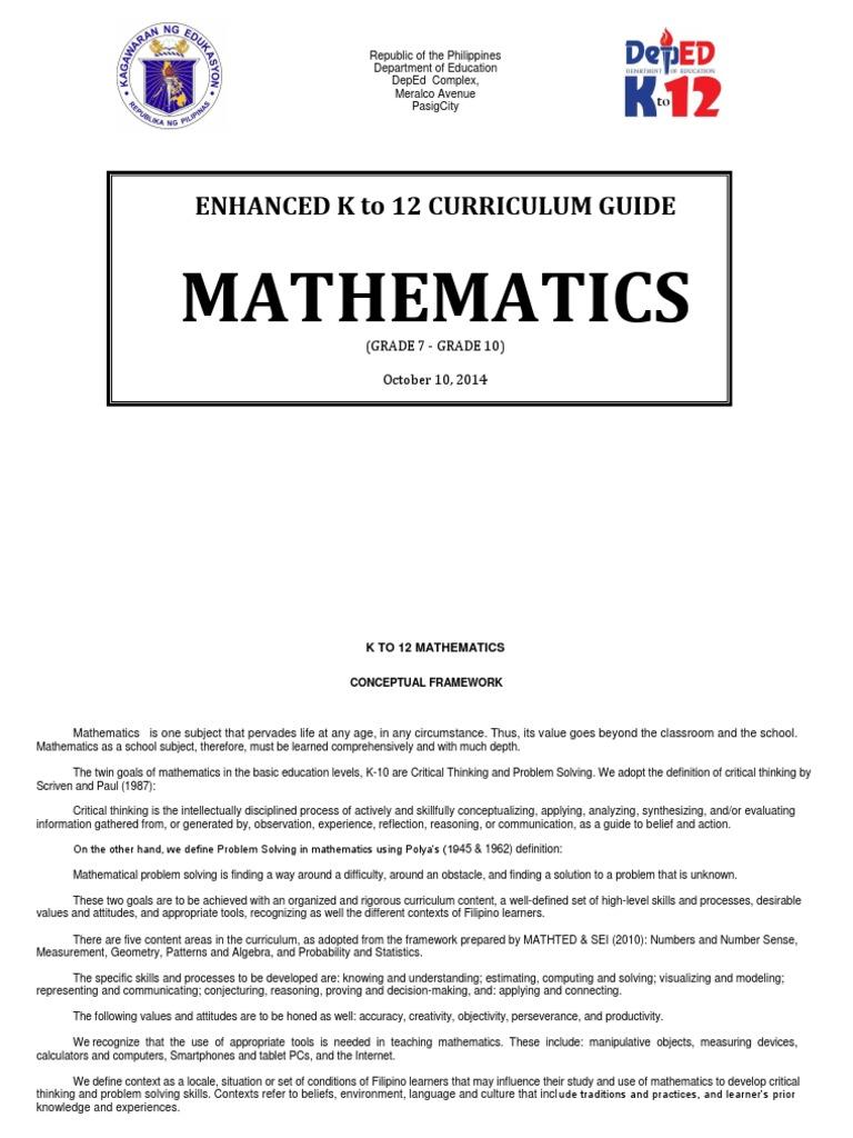 Year 7 Maths Curriculum