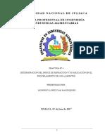 INDICE DE REFRACCION Y POLARIMETRIA EN ALIMENTOS